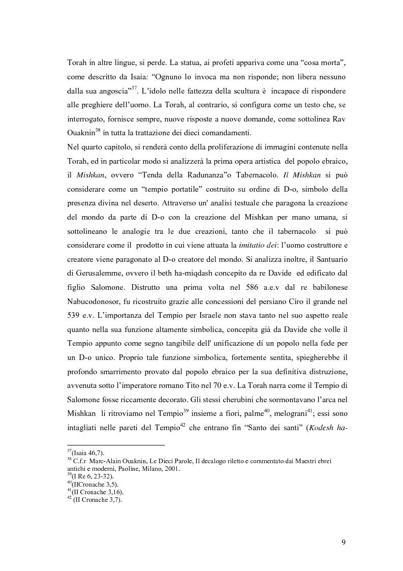 Anteprima della tesi: Il divieto di rappresentazione nell'ebraismo, Pagina 9