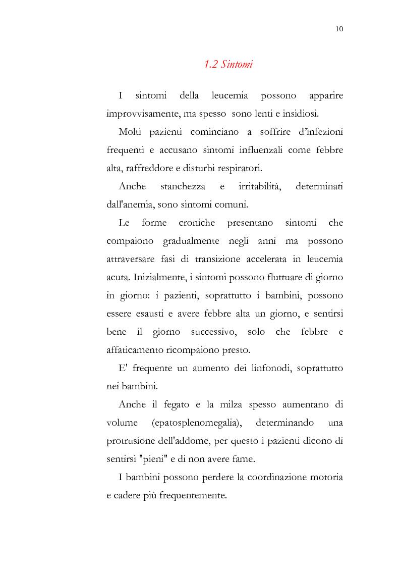 Anteprima della tesi: Aspetti psicologici della leucemia infantile, Pagina 10
