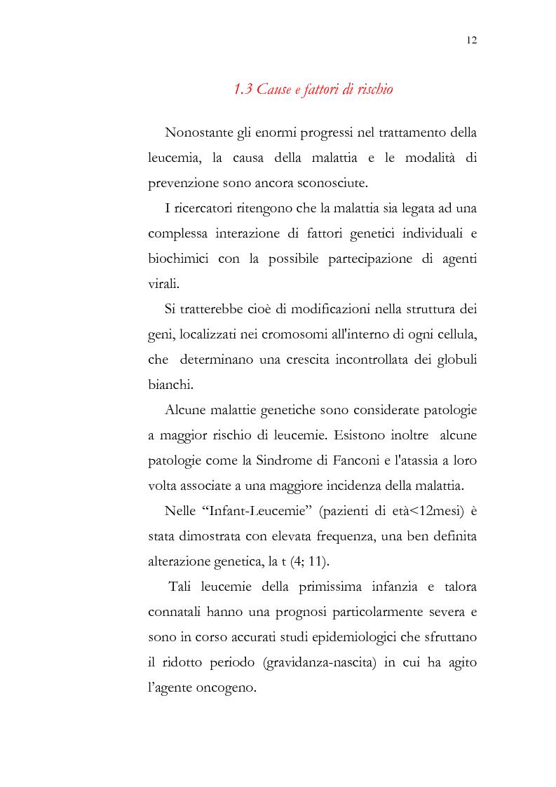 Anteprima della tesi: Aspetti psicologici della leucemia infantile, Pagina 12