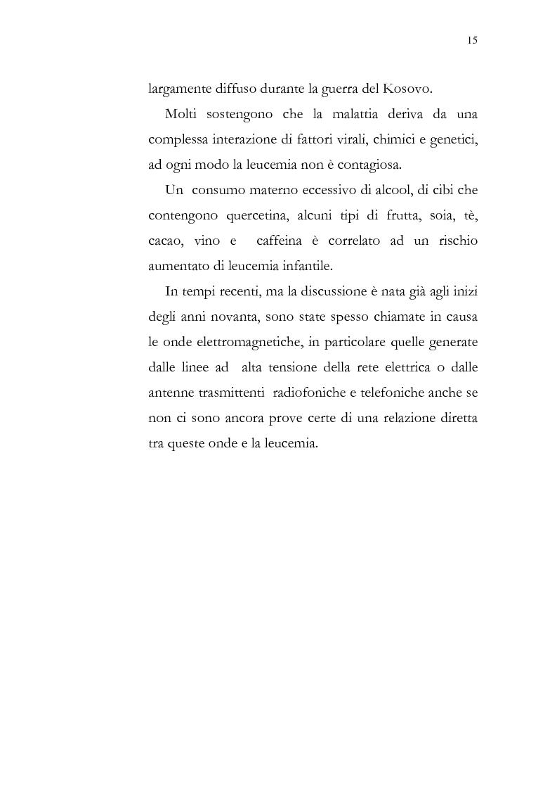Anteprima della tesi: Aspetti psicologici della leucemia infantile, Pagina 15