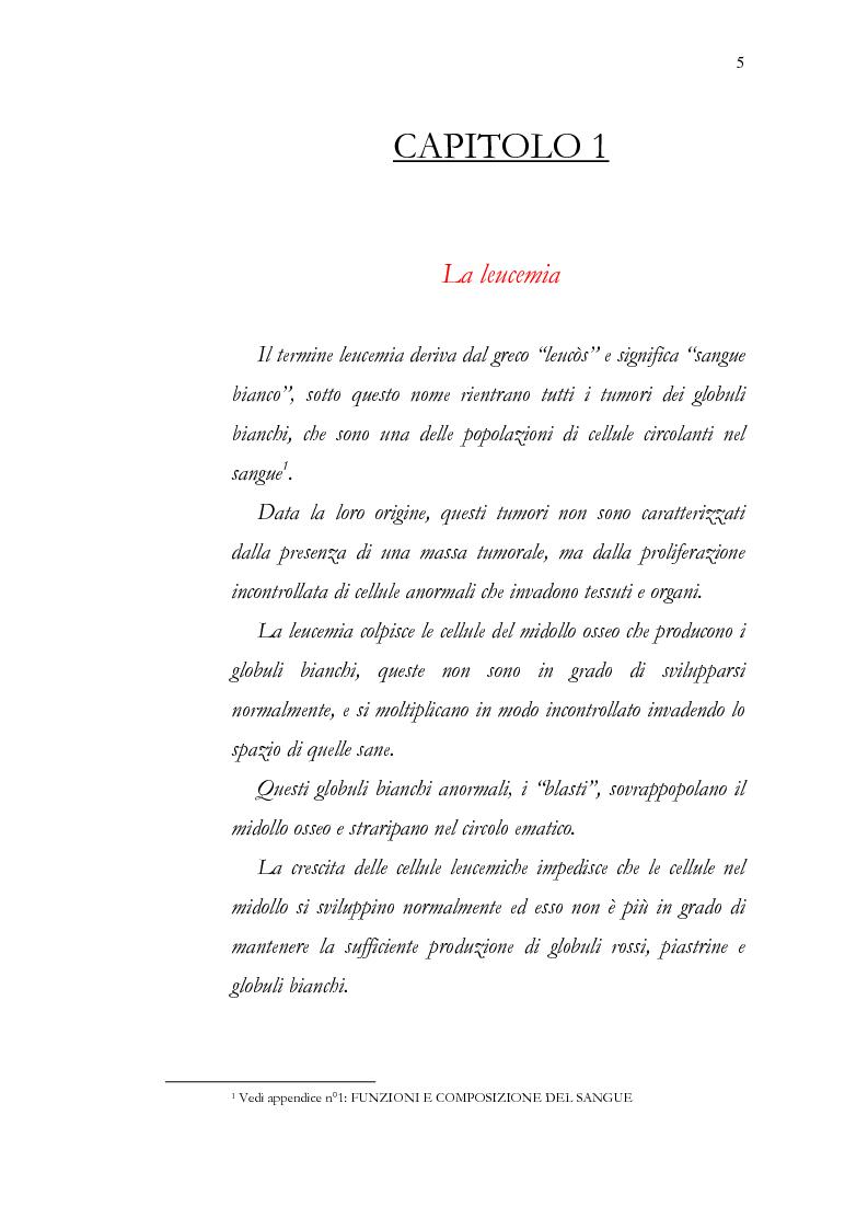 Anteprima della tesi: Aspetti psicologici della leucemia infantile, Pagina 5