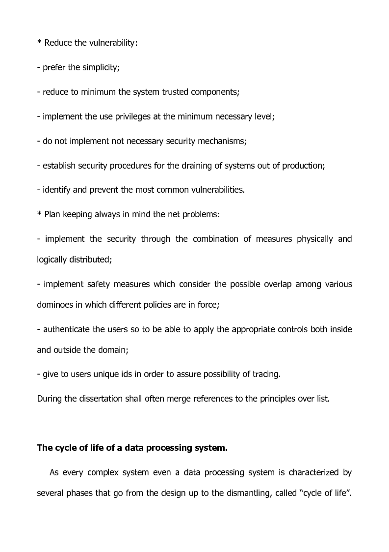 Anteprima della tesi: Preventing and defensive tools of data processing system, Pagina 10