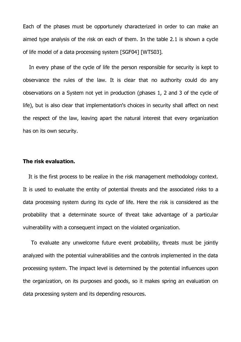 Anteprima della tesi: Preventing and defensive tools of data processing system, Pagina 11