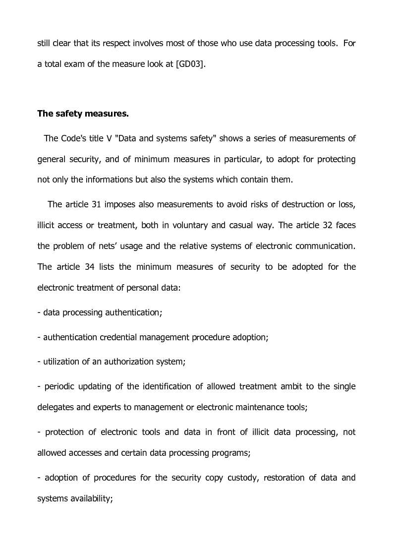 Anteprima della tesi: Preventing and defensive tools of data processing system, Pagina 4