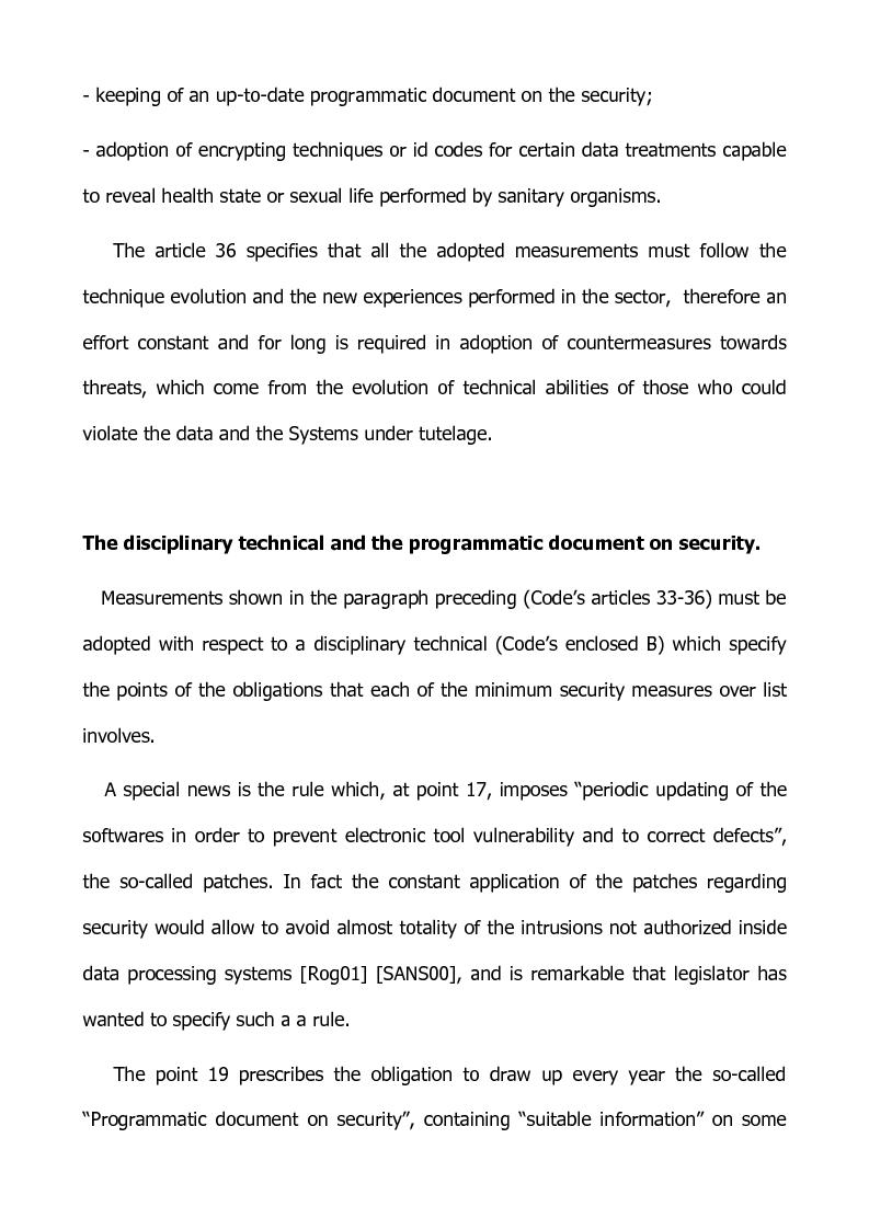 Anteprima della tesi: Preventing and defensive tools of data processing system, Pagina 5