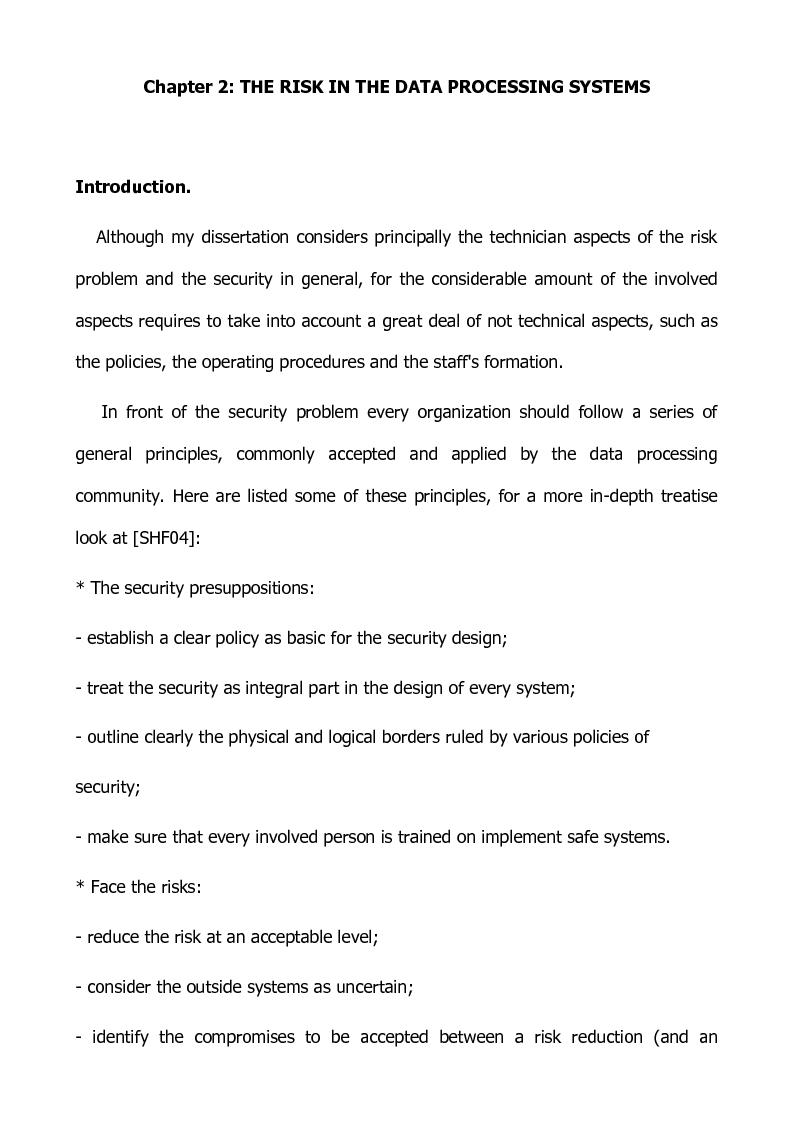 Anteprima della tesi: Preventing and defensive tools of data processing system, Pagina 8