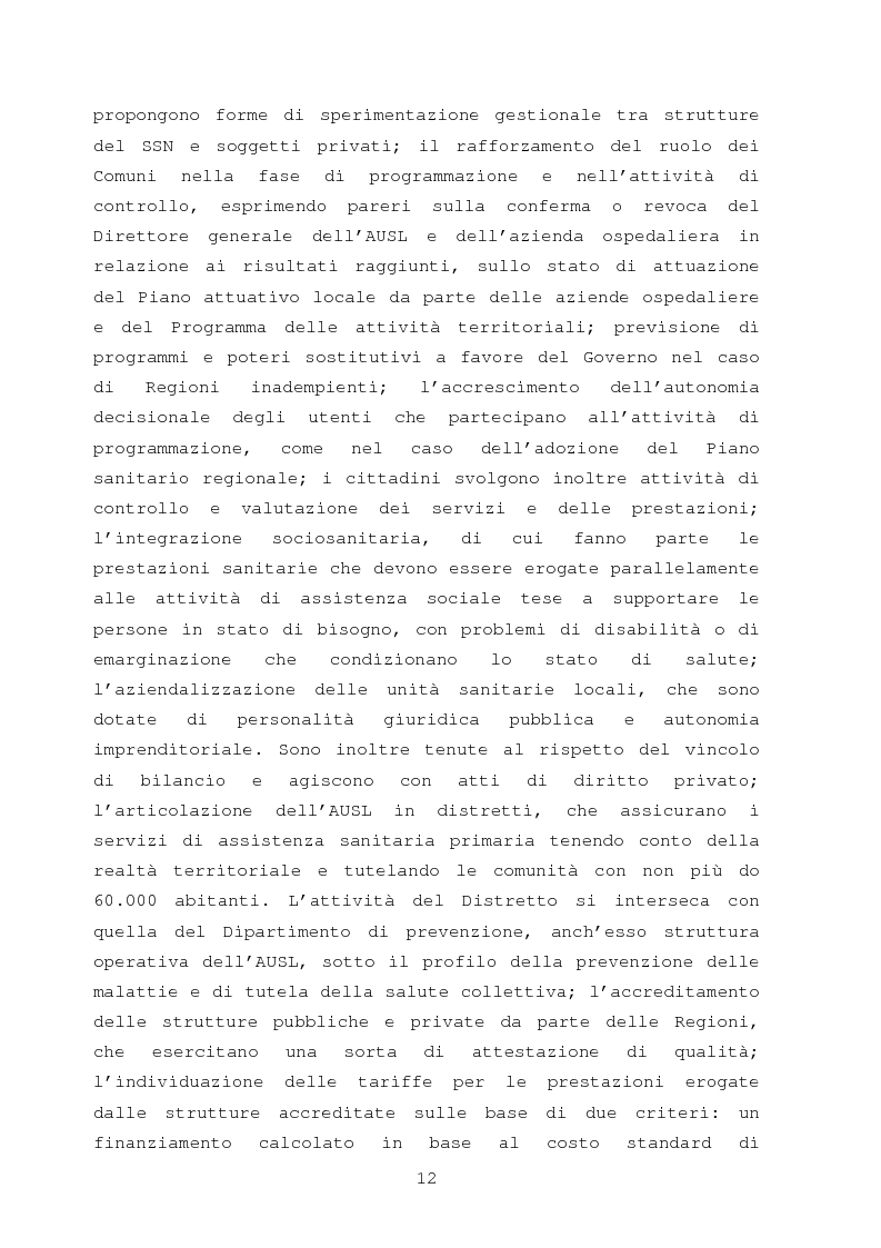 Anteprima della tesi: La comunicazione nella sanità: l'evoluzione dei rapporti tra l'amministrazione e l'utenza, Pagina 6