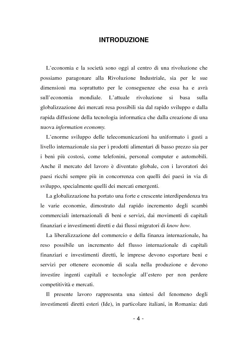 Anteprima della tesi: L'insediamento produttivo all'estero, Pagina 1