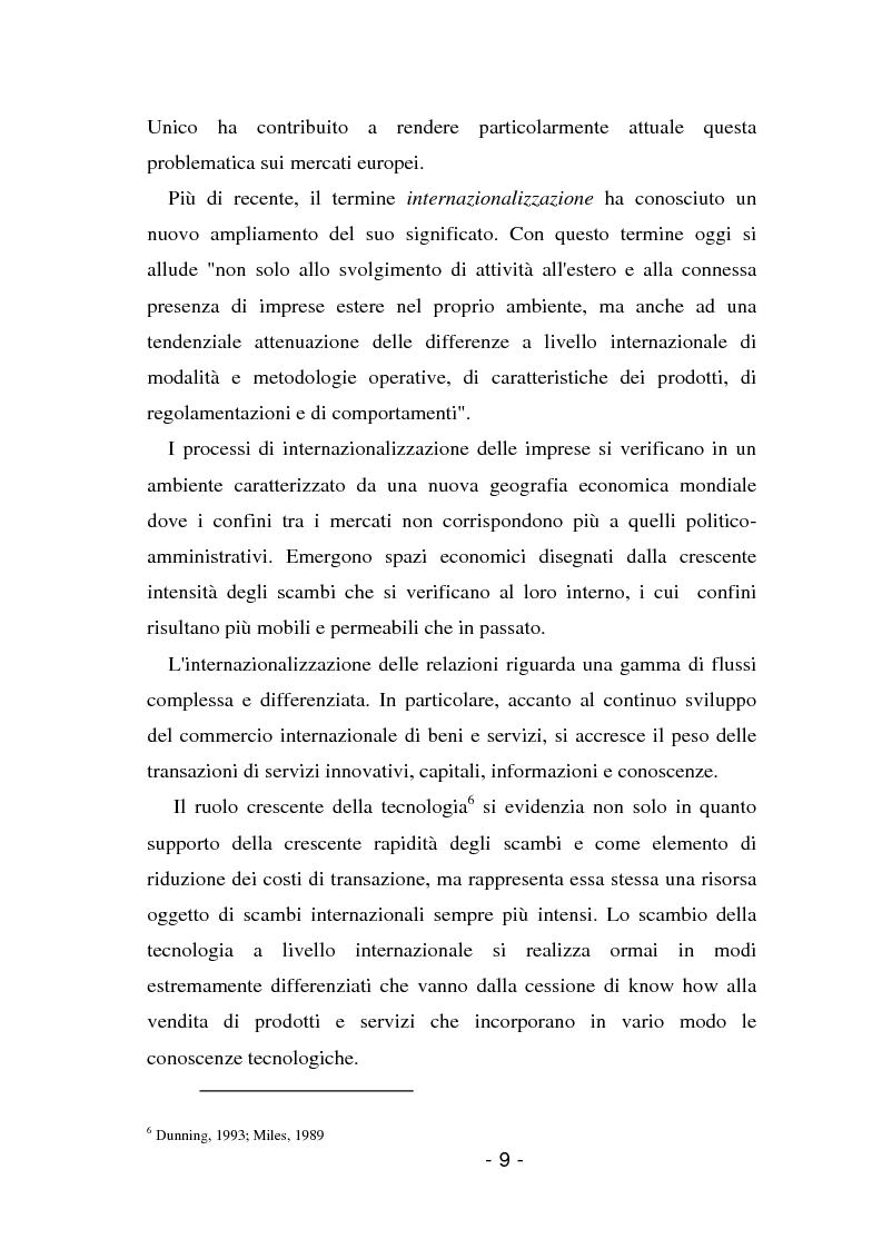 Anteprima della tesi: L'insediamento produttivo all'estero, Pagina 6