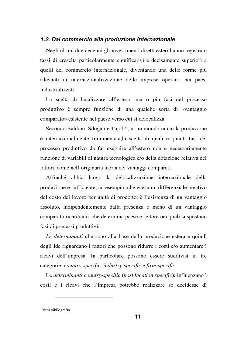 Anteprima della tesi: L'insediamento produttivo all'estero, Pagina 8