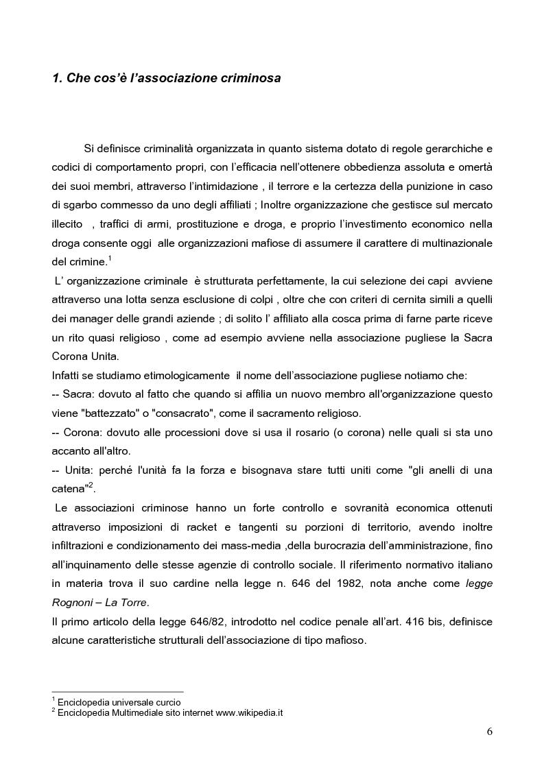 Anteprima della tesi: Politica della Sicurezza: Lotta alla criminalità Ionico Salentina, Pagina 3