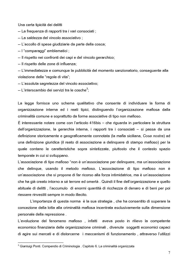 Anteprima della tesi: Politica della Sicurezza: Lotta alla criminalità Ionico Salentina, Pagina 4