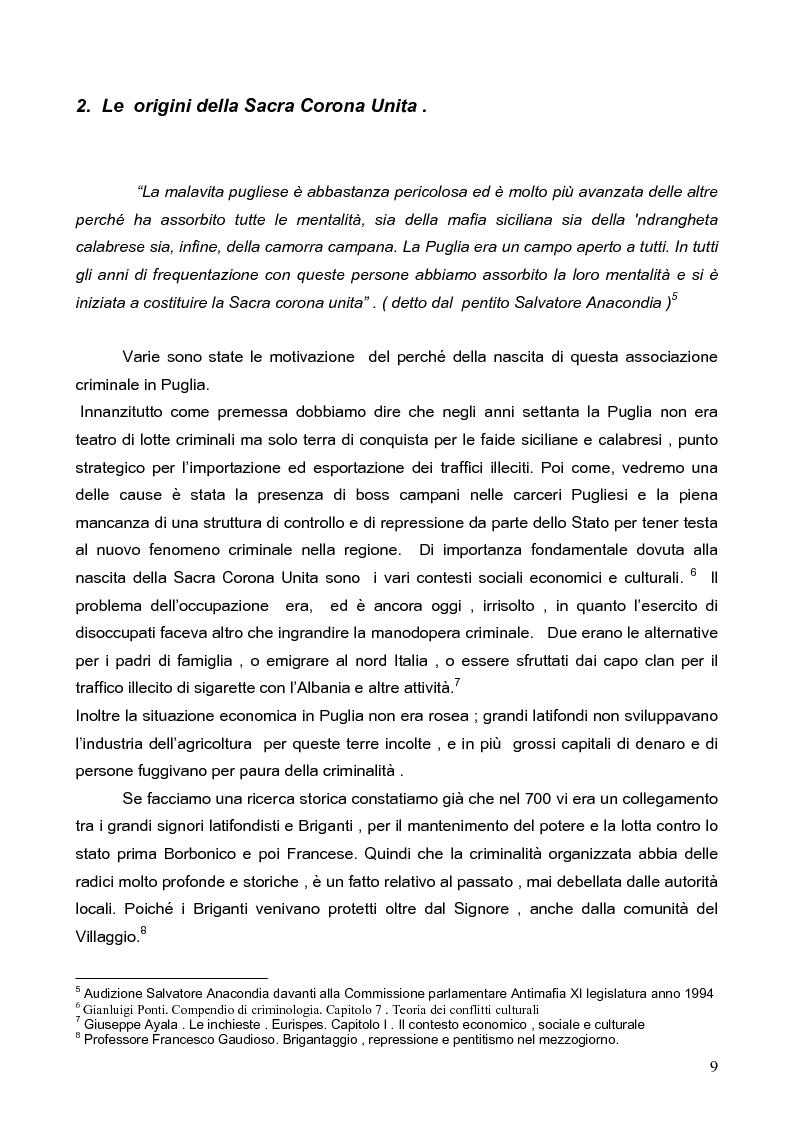 Anteprima della tesi: Politica della Sicurezza: Lotta alla criminalità Ionico Salentina, Pagina 6