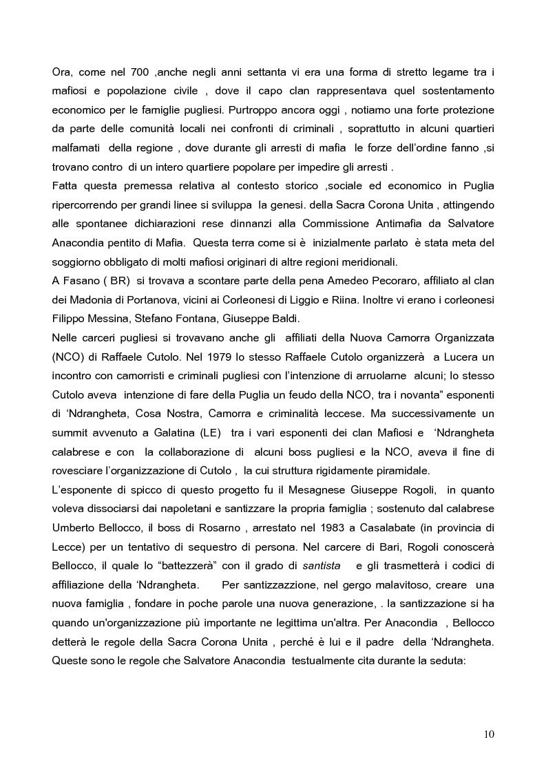 Anteprima della tesi: Politica della Sicurezza: Lotta alla criminalità Ionico Salentina, Pagina 7