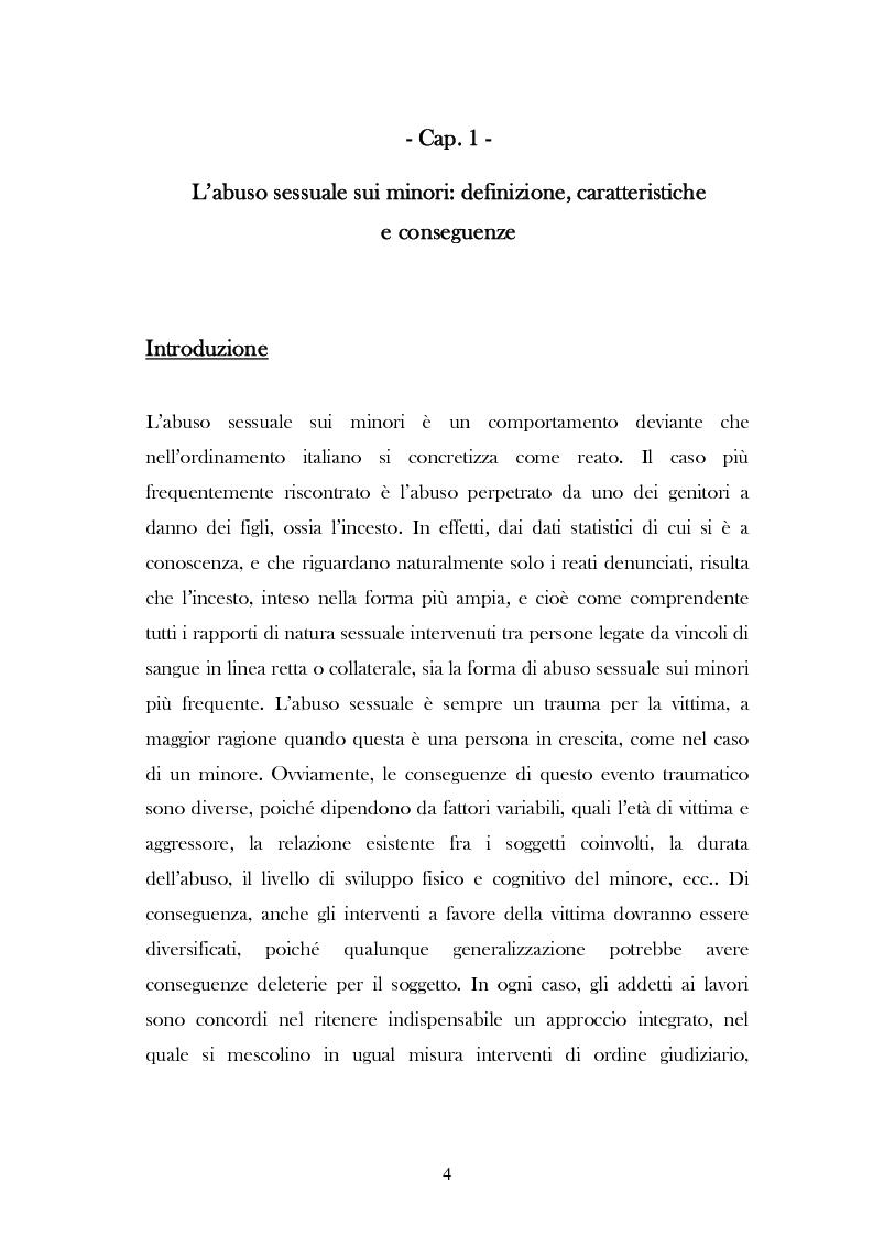 """Anteprima della tesi: L'analisi del discorso di un caso di abuso minorile presente nella Casa Famiglia """"S.O.S. adolescenza"""", Pagina 1"""