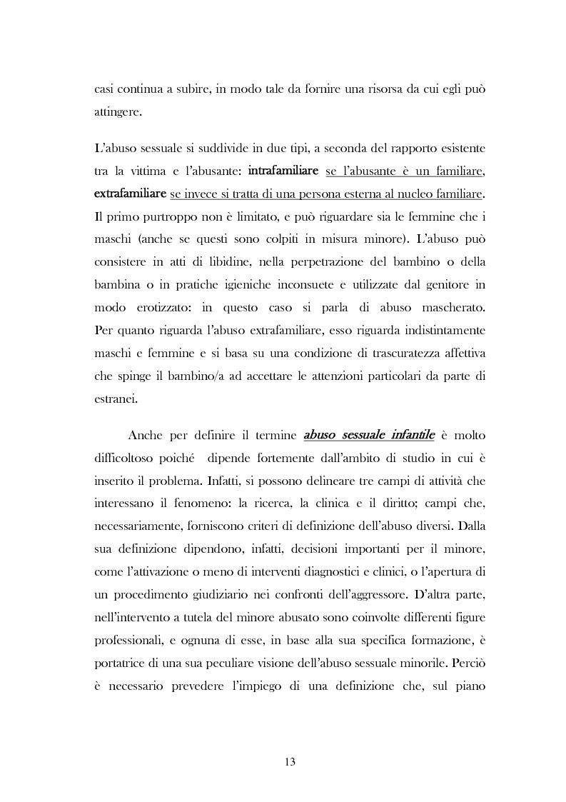 """Anteprima della tesi: L'analisi del discorso di un caso di abuso minorile presente nella Casa Famiglia """"S.O.S. adolescenza"""", Pagina 10"""