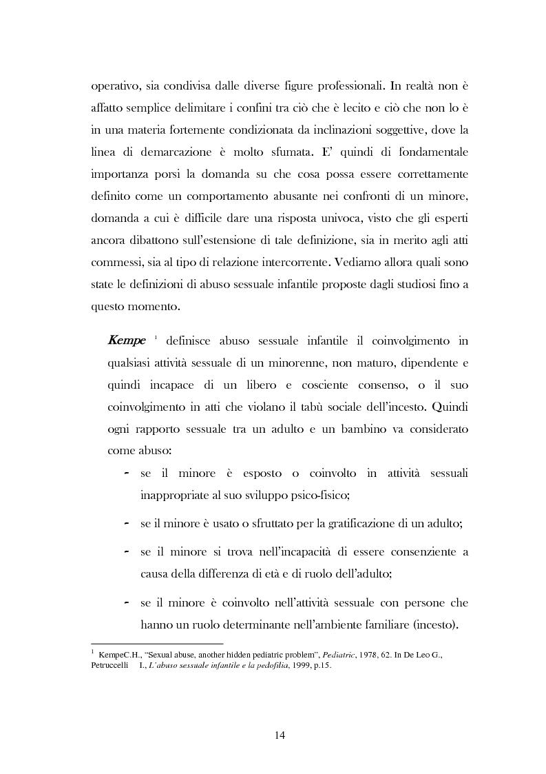 """Anteprima della tesi: L'analisi del discorso di un caso di abuso minorile presente nella Casa Famiglia """"S.O.S. adolescenza"""", Pagina 11"""