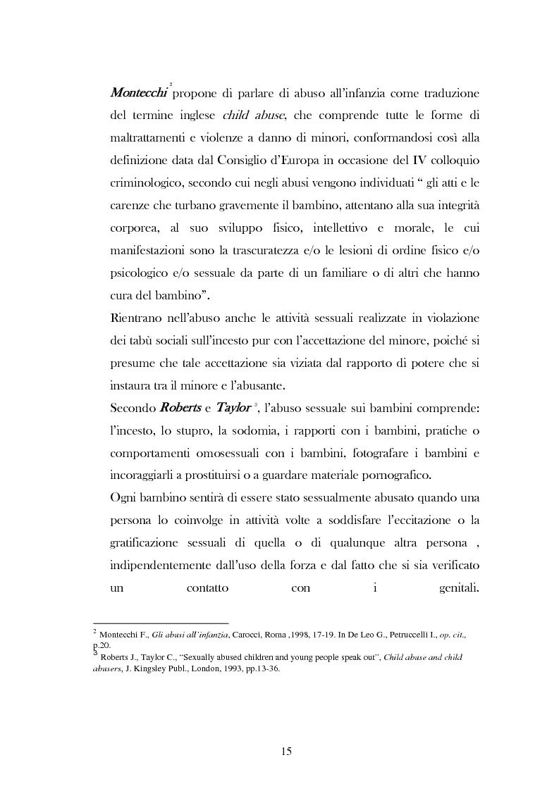 """Anteprima della tesi: L'analisi del discorso di un caso di abuso minorile presente nella Casa Famiglia """"S.O.S. adolescenza"""", Pagina 12"""