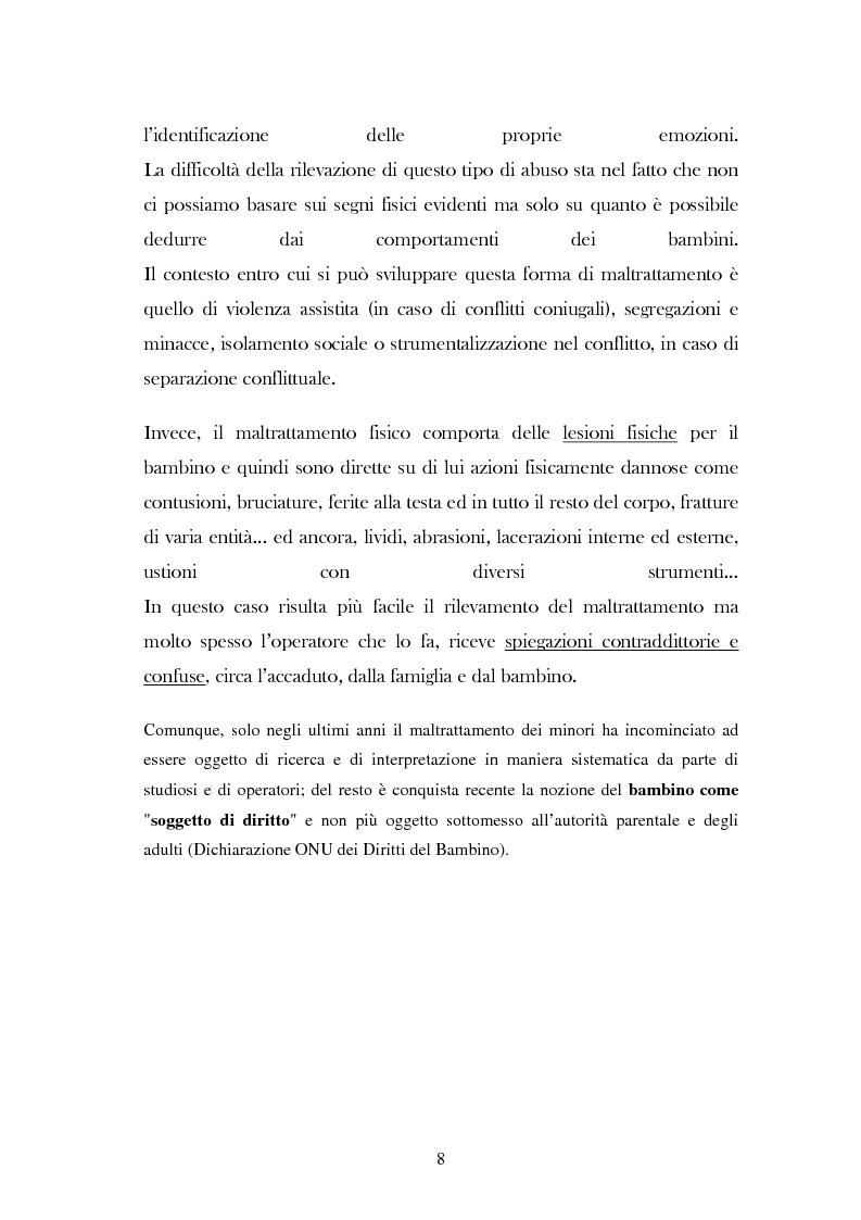 """Anteprima della tesi: L'analisi del discorso di un caso di abuso minorile presente nella Casa Famiglia """"S.O.S. adolescenza"""", Pagina 5"""