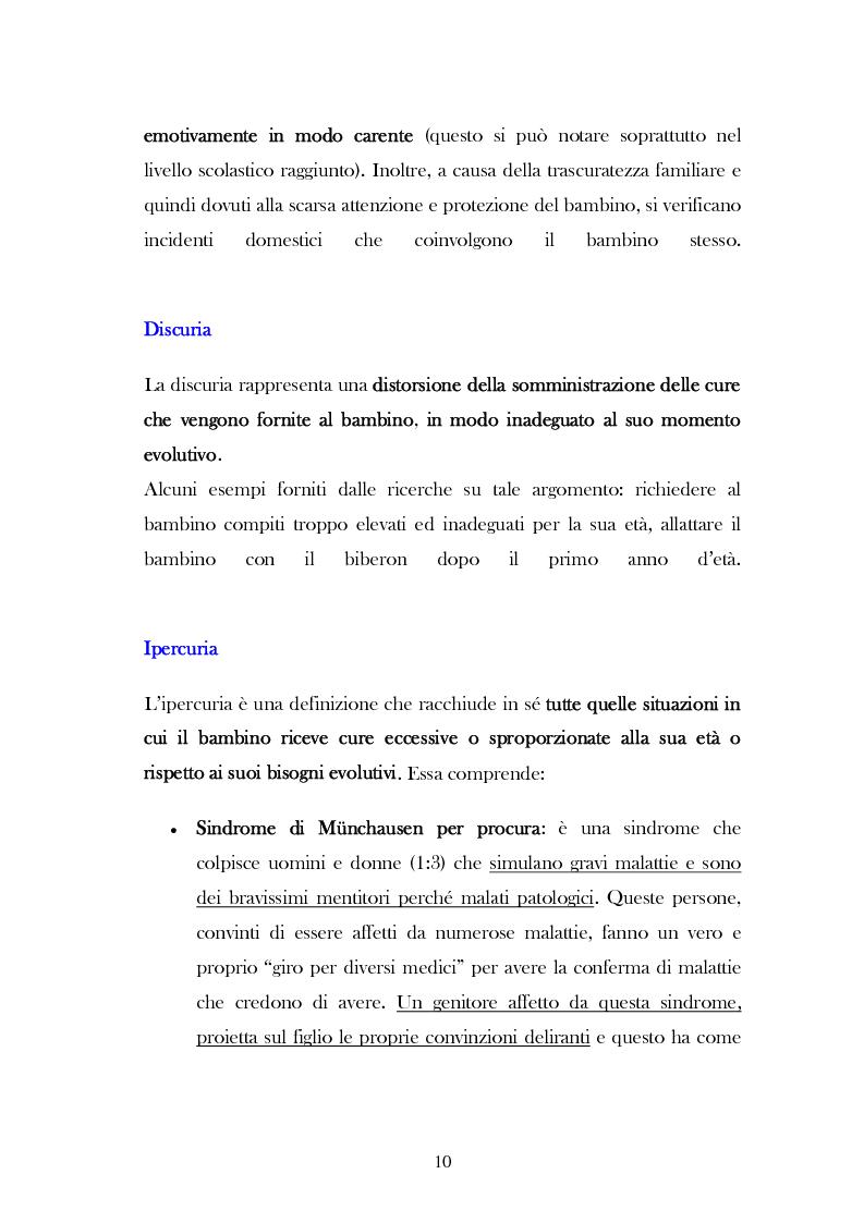 """Anteprima della tesi: L'analisi del discorso di un caso di abuso minorile presente nella Casa Famiglia """"S.O.S. adolescenza"""", Pagina 7"""