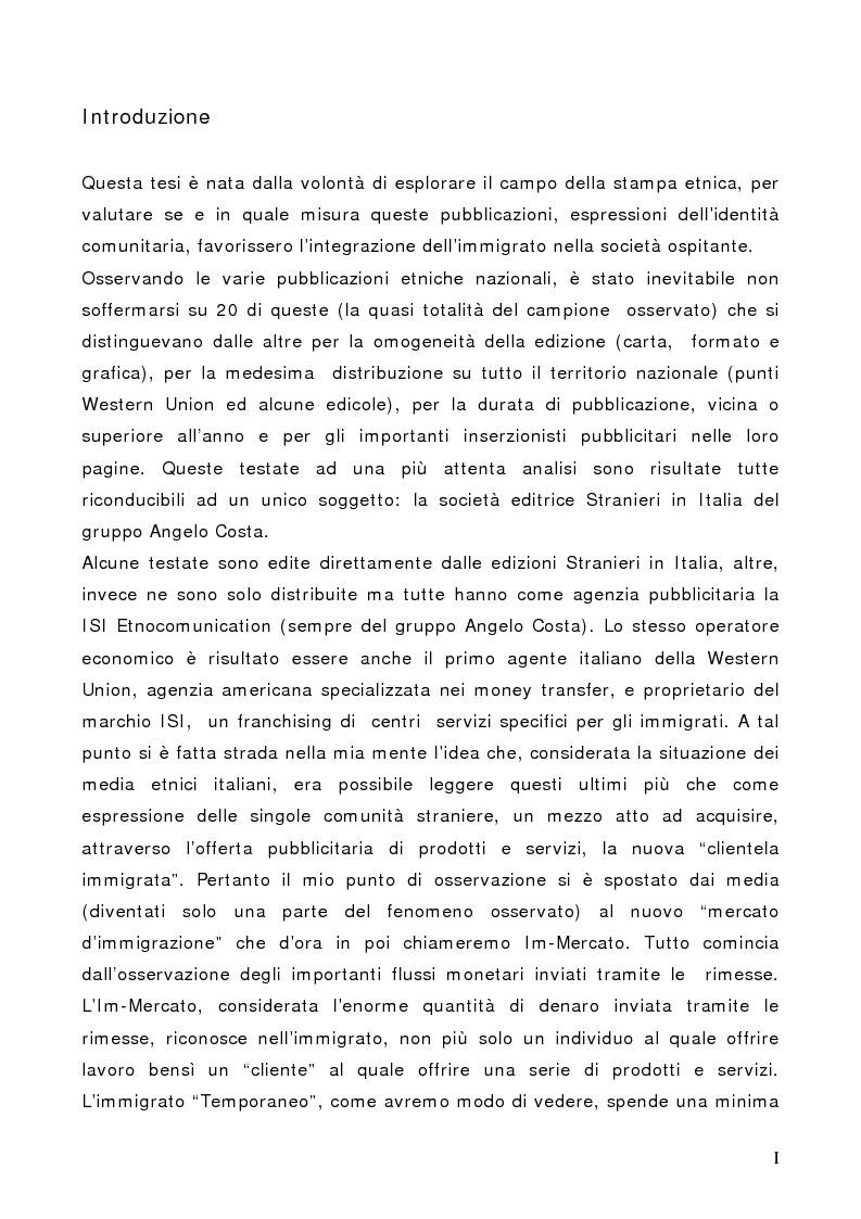 Anteprima della tesi: Il Cliente Immigrato: il caso Angelo Costa, Pagina 1