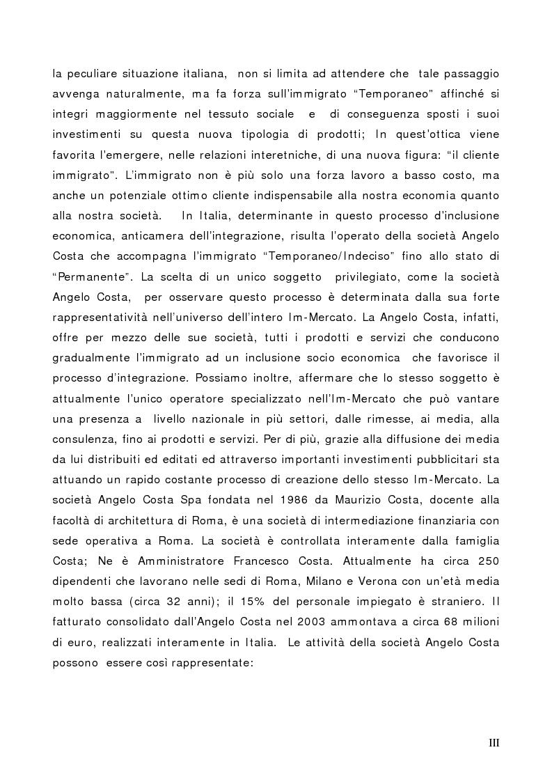 Anteprima della tesi: Il Cliente Immigrato: il caso Angelo Costa, Pagina 3