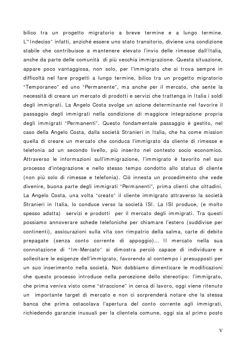 Anteprima della tesi: Il Cliente Immigrato: il caso Angelo Costa, Pagina 5