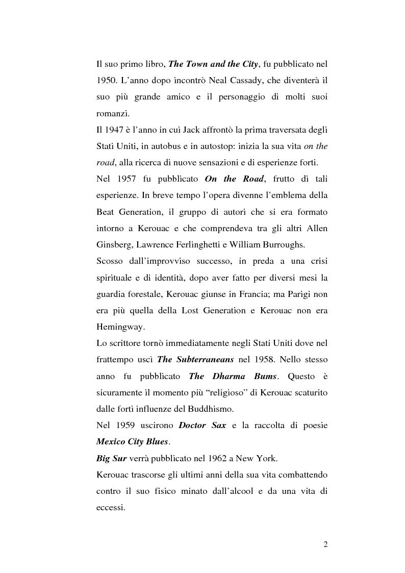 Anteprima della tesi: Il viaggio autobiografico di Jack Kerouac, Pagina 2