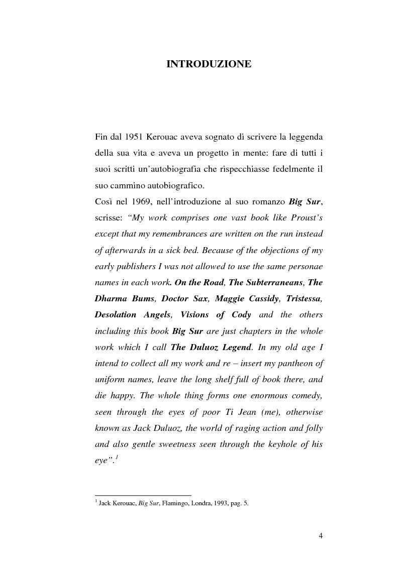 Anteprima della tesi: Il viaggio autobiografico di Jack Kerouac, Pagina 4