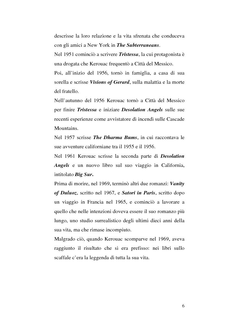 Anteprima della tesi: Il viaggio autobiografico di Jack Kerouac, Pagina 6