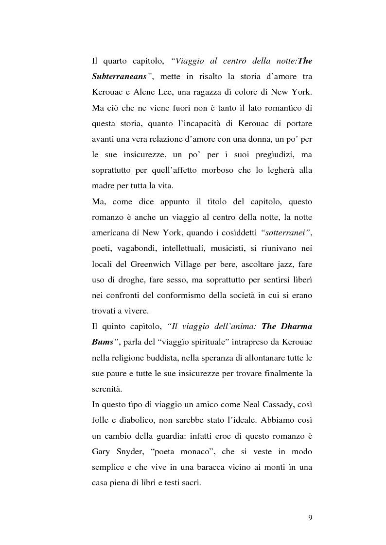 Anteprima della tesi: Il viaggio autobiografico di Jack Kerouac, Pagina 9