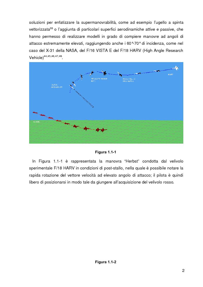 Anteprima della tesi: Configurazione Aerodinamica di Velivoli ad Elevati Angoli di Attacco, Pagina 2