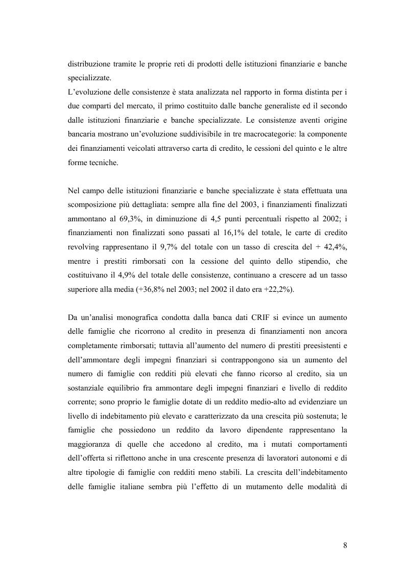 Anteprima della tesi: La valutazione della solvibilità del cliente nelle società di credito al consumo. Il caso Santander Consumer Bank., Pagina 5