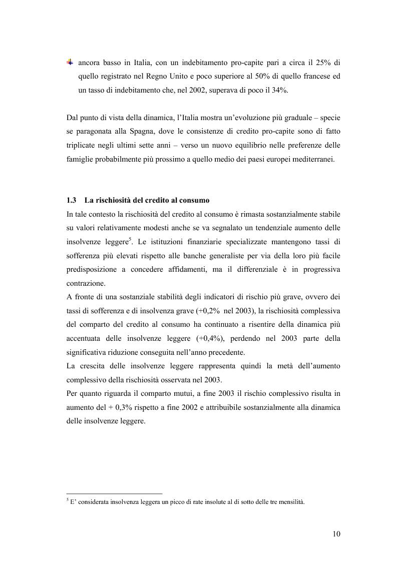 Anteprima della tesi: La valutazione della solvibilità del cliente nelle società di credito al consumo. Il caso Santander Consumer Bank., Pagina 7