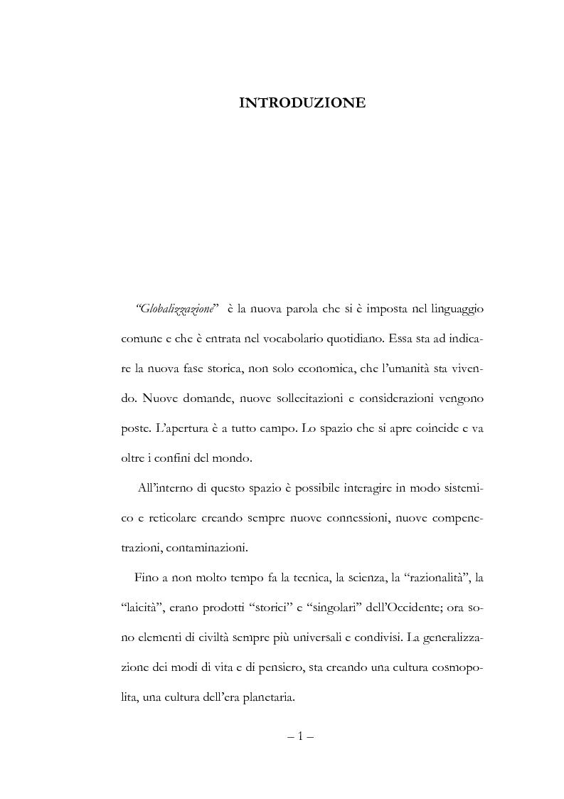 Anteprima della tesi: Globalizzazione, democrazia e diritti umani, Pagina 1