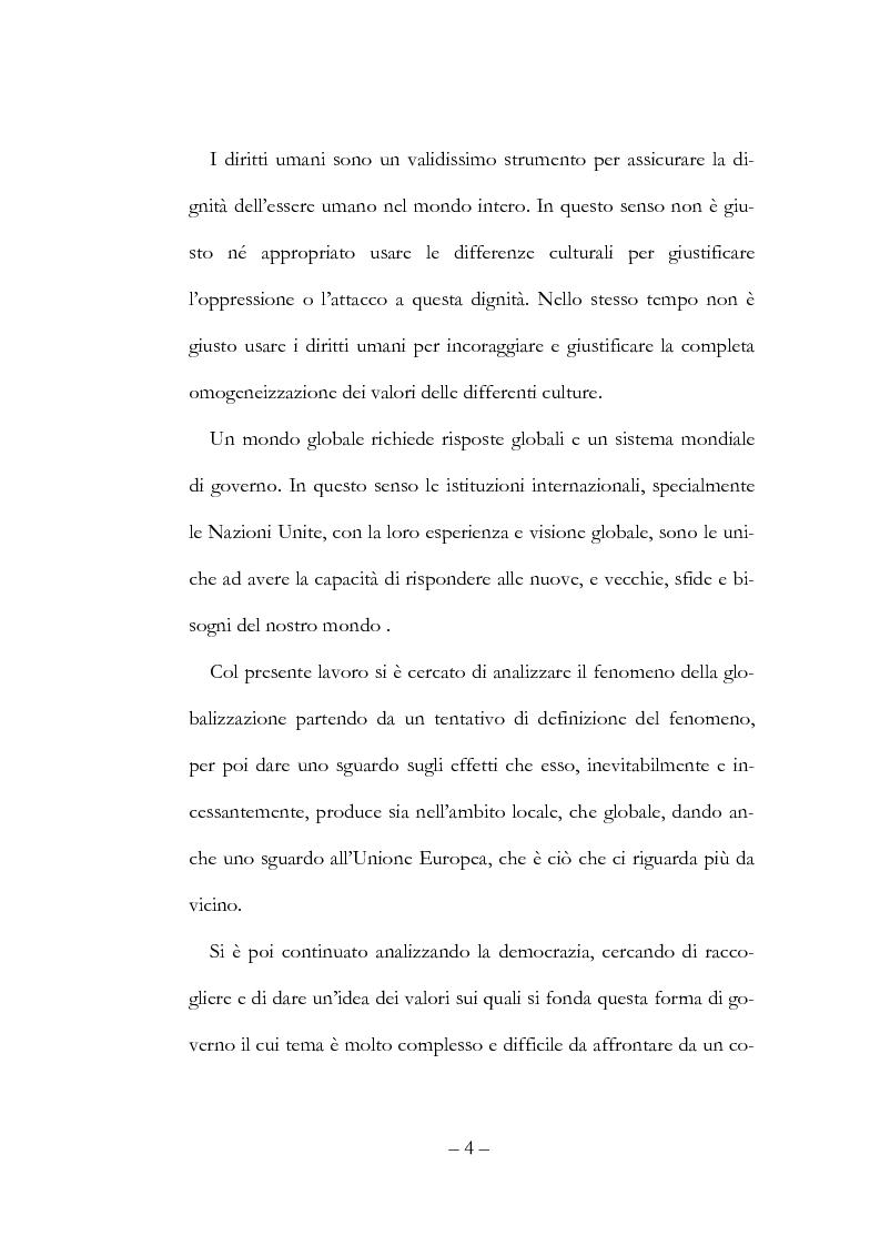Anteprima della tesi: Globalizzazione, democrazia e diritti umani, Pagina 4