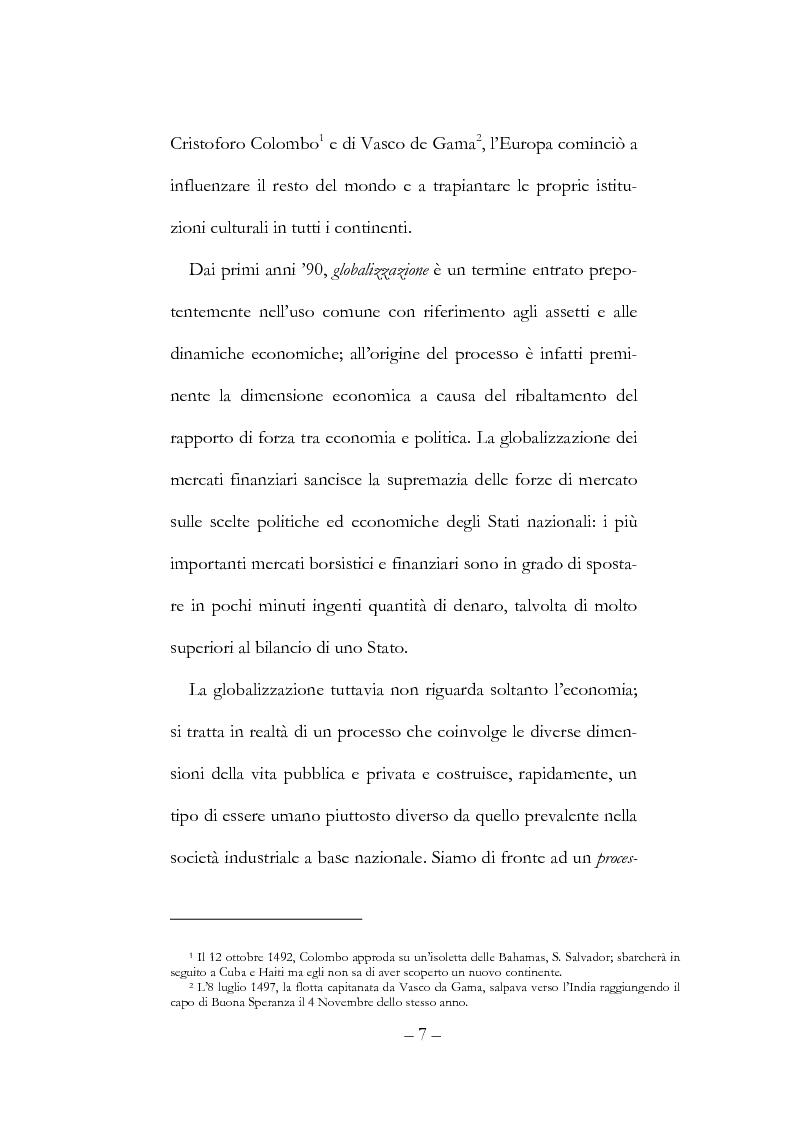 Anteprima della tesi: Globalizzazione, democrazia e diritti umani, Pagina 7