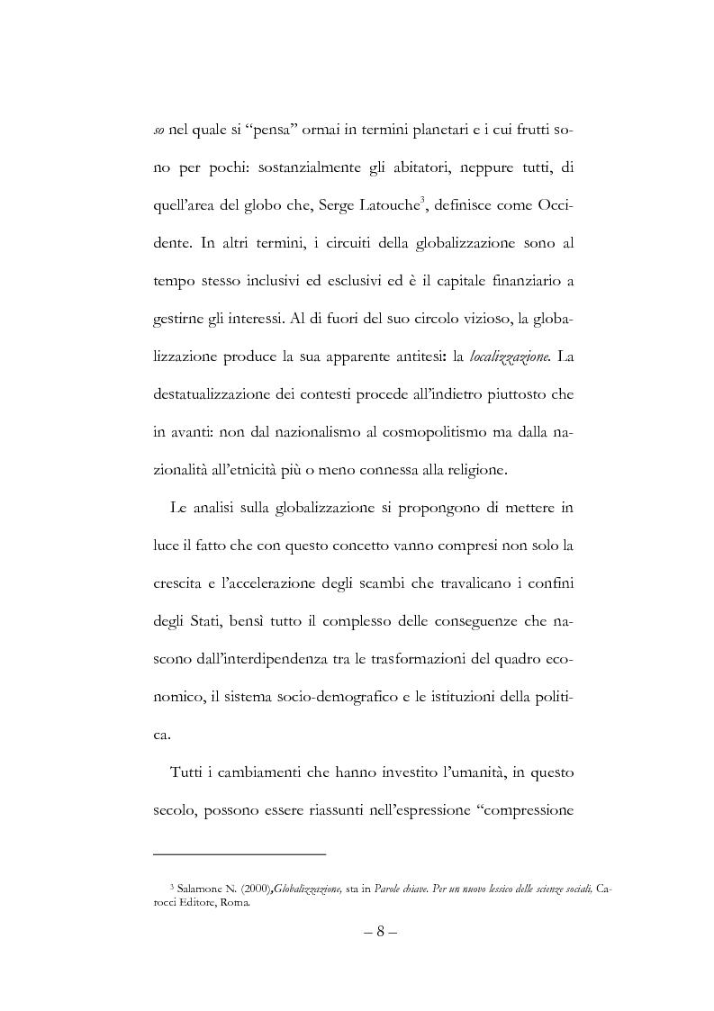 Anteprima della tesi: Globalizzazione, democrazia e diritti umani, Pagina 8