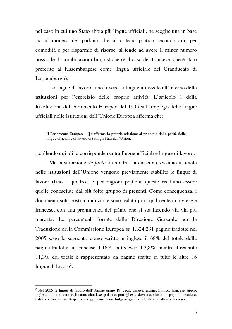 Anteprima della tesi: La traduzione del discorso politico dallo spagnolo all'italiano nel Parlamento Europeo, Pagina 3