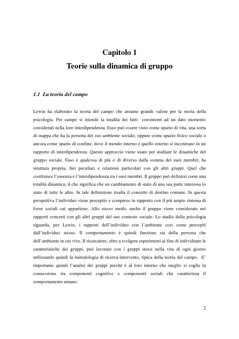 Anteprima della tesi: Il bullismo e le dinamiche di gruppo nel contesto scolastico, Pagina 1