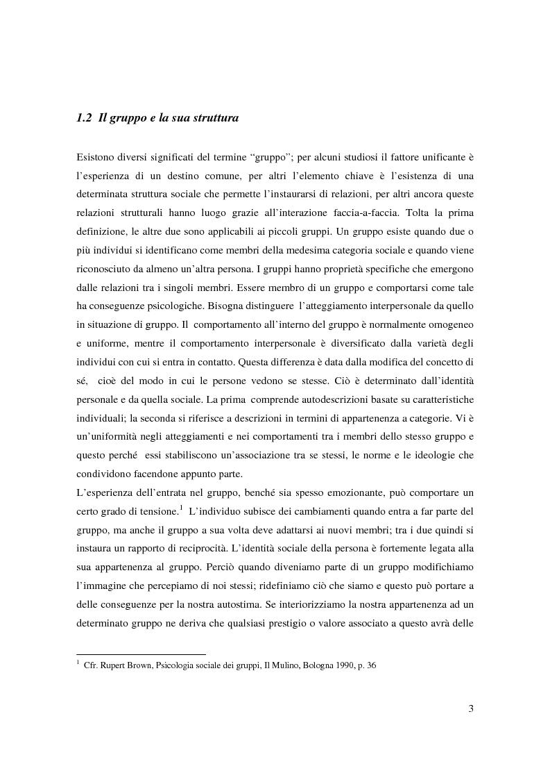 Anteprima della tesi: Il bullismo e le dinamiche di gruppo nel contesto scolastico, Pagina 2