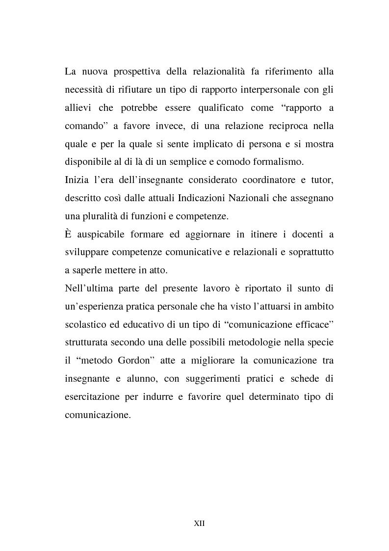 Anteprima della tesi: La comunicazione e l'educazione a scuola: analisi e proposte, Pagina 10