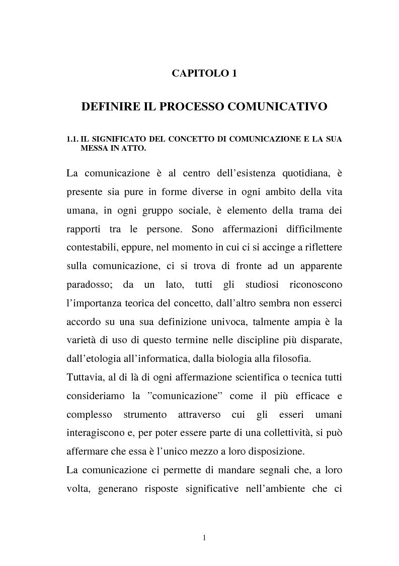 Anteprima della tesi: La comunicazione e l'educazione a scuola: analisi e proposte, Pagina 11