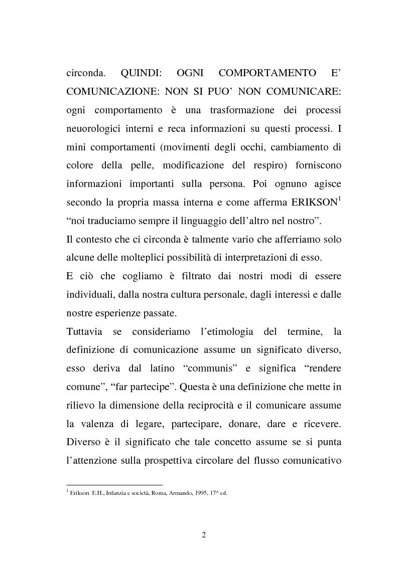 Anteprima della tesi: La comunicazione e l'educazione a scuola: analisi e proposte, Pagina 12