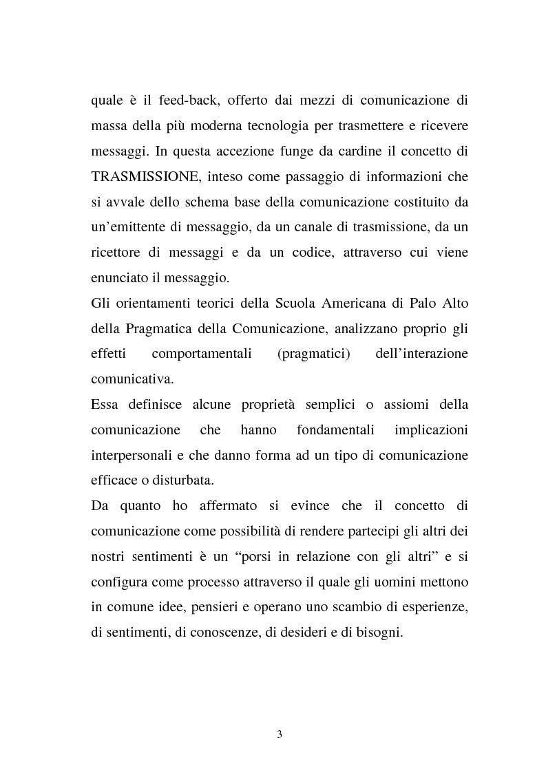 Anteprima della tesi: La comunicazione e l'educazione a scuola: analisi e proposte, Pagina 13
