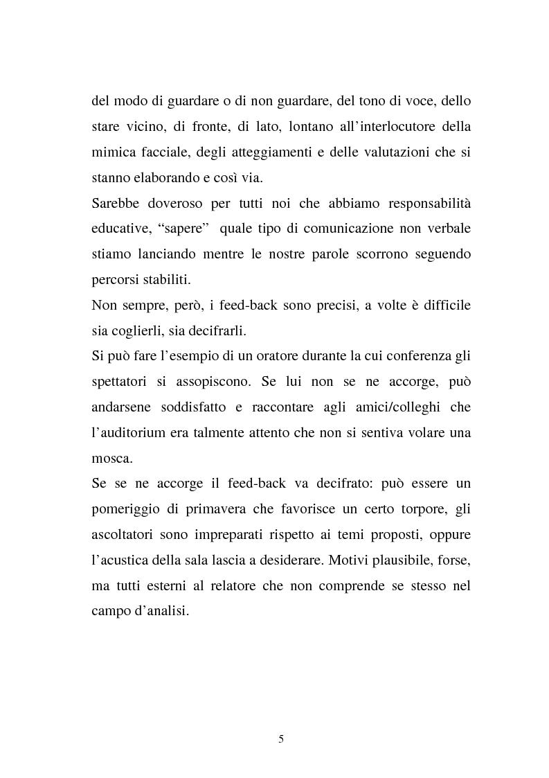Anteprima della tesi: La comunicazione e l'educazione a scuola: analisi e proposte, Pagina 15