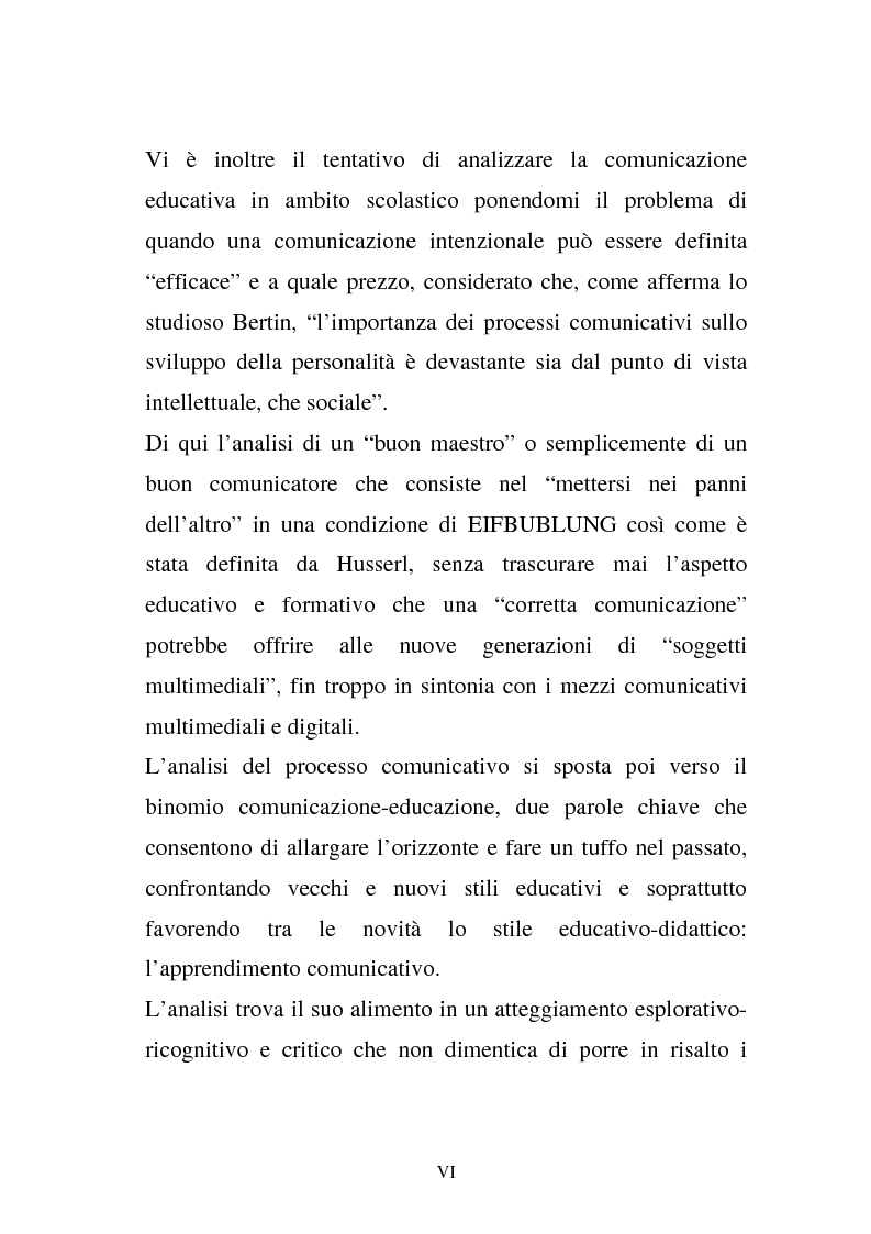Anteprima della tesi: La comunicazione e l'educazione a scuola: analisi e proposte, Pagina 4
