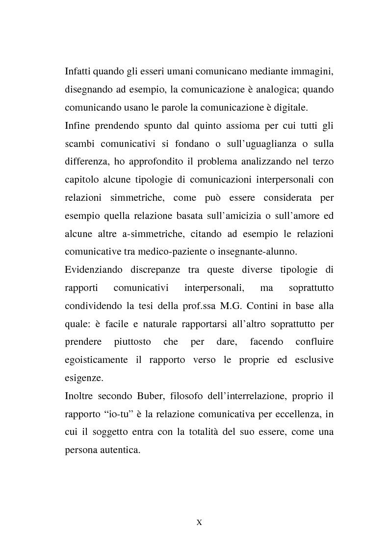 Anteprima della tesi: La comunicazione e l'educazione a scuola: analisi e proposte, Pagina 8