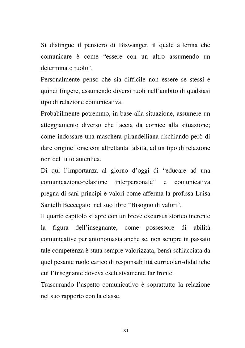 Anteprima della tesi: La comunicazione e l'educazione a scuola: analisi e proposte, Pagina 9