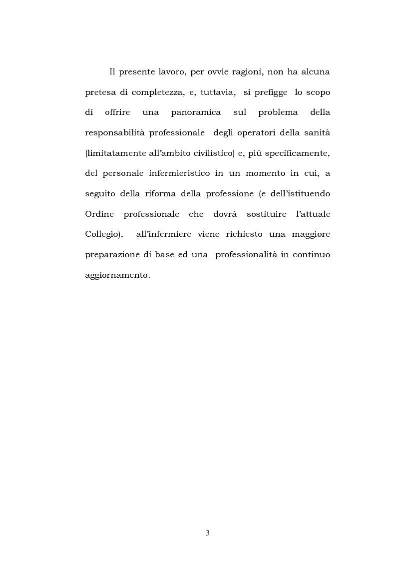 Anteprima della tesi: La responsabilità civile: aspetti generali e nell'ambito della professione infermieristica, Pagina 3